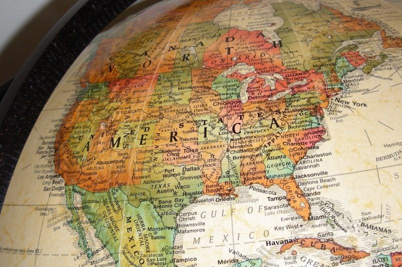 Северная Америка карта история страны и города все  Северная Америка