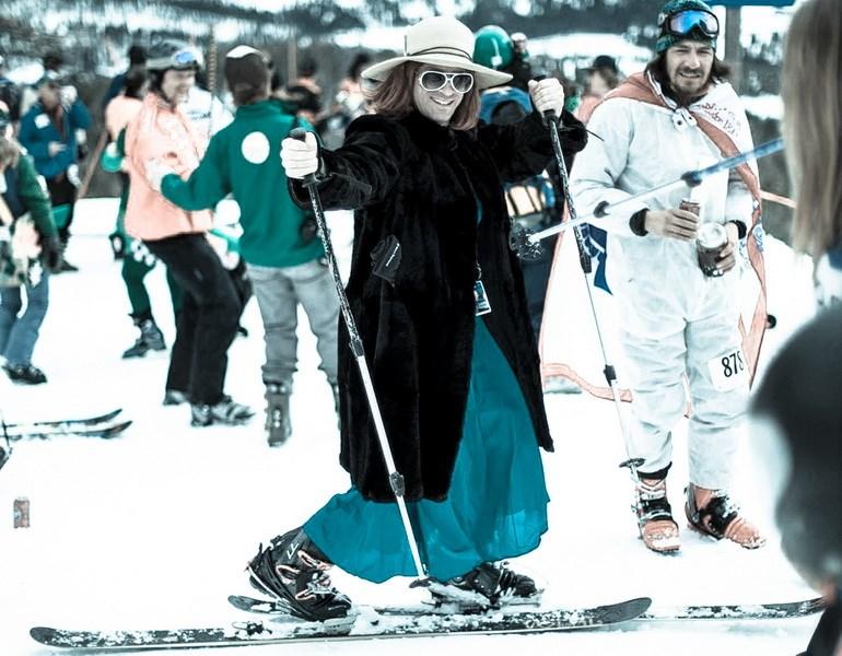 В штате Монтана прошли, пожалуй, самые необычные лыжные гонки в мире